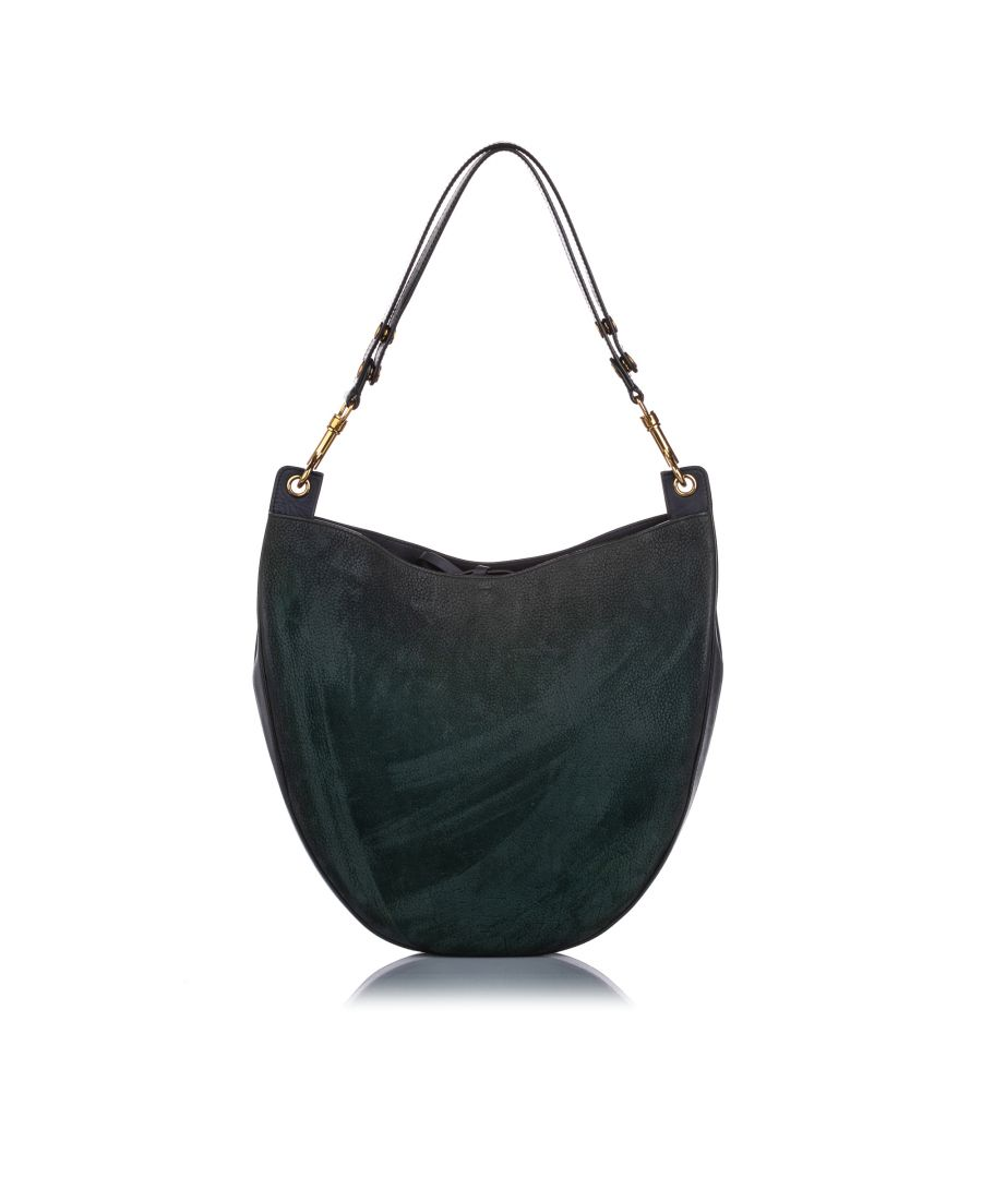 Image for Celine Nubuck Leather Hobo Green
