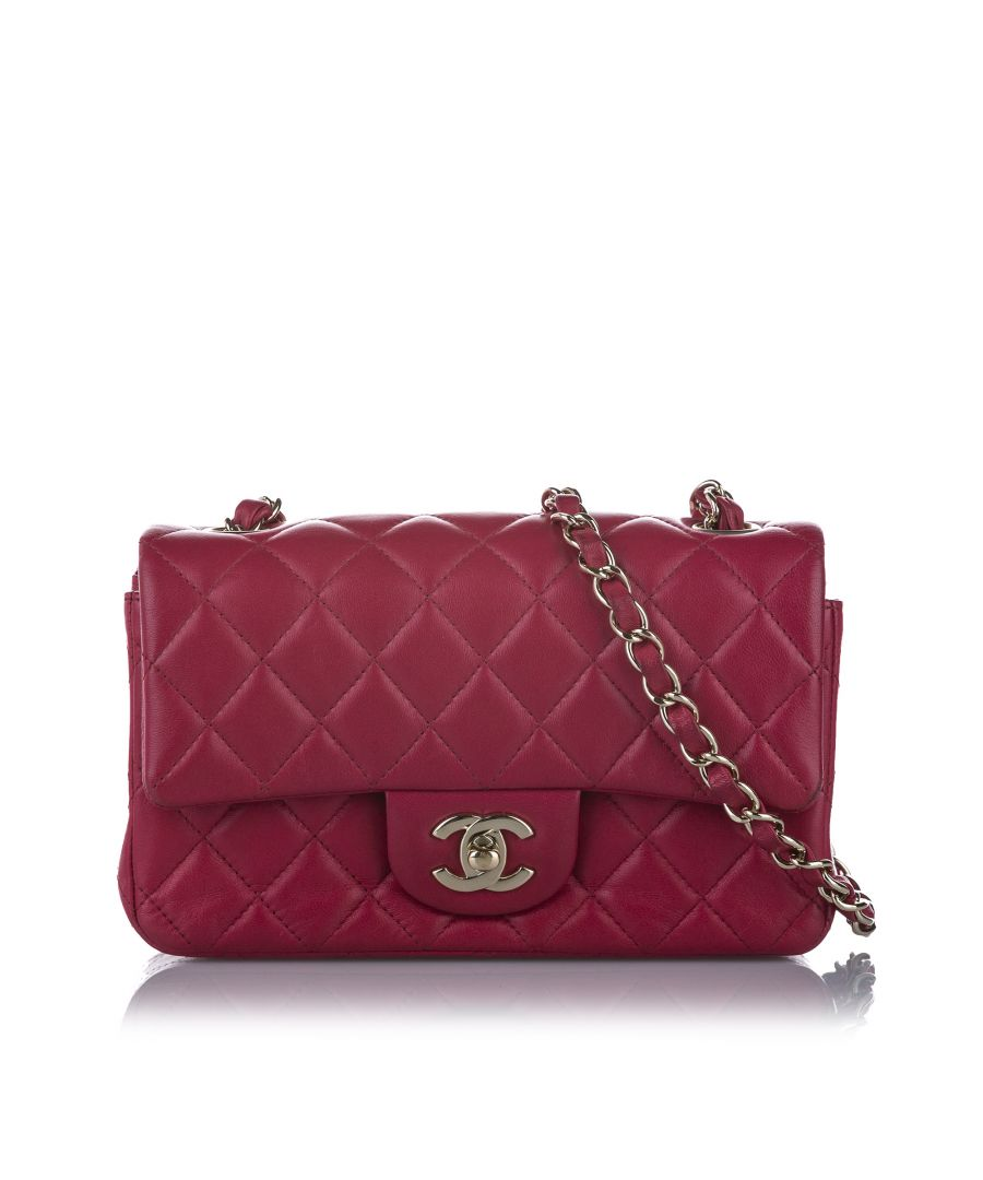 Image for Vintage Chanel New Mini Classic Lambskin Flap Bag Pink