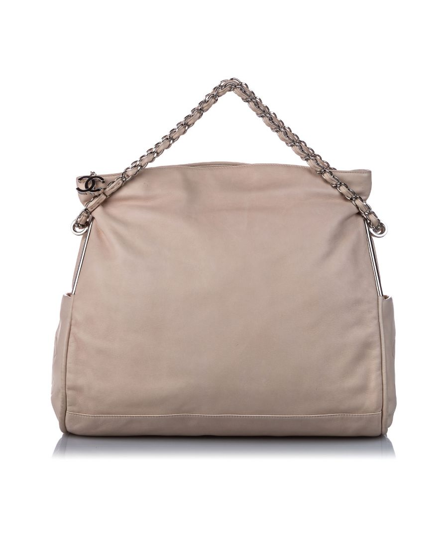 Image for Vintage Chanel Lambskin Ultimate Soft Tote Brown