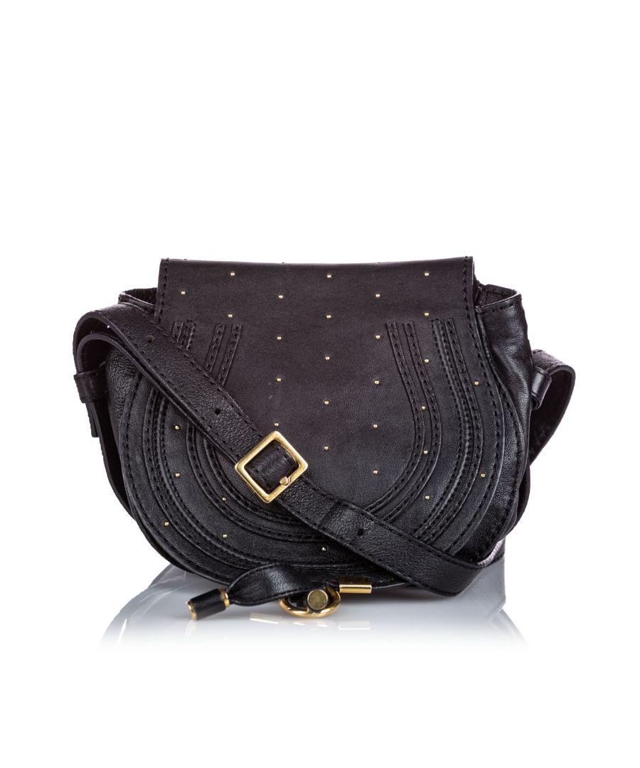 Image for Vintage Chloe Leather Marcie Crossbody Bag Black
