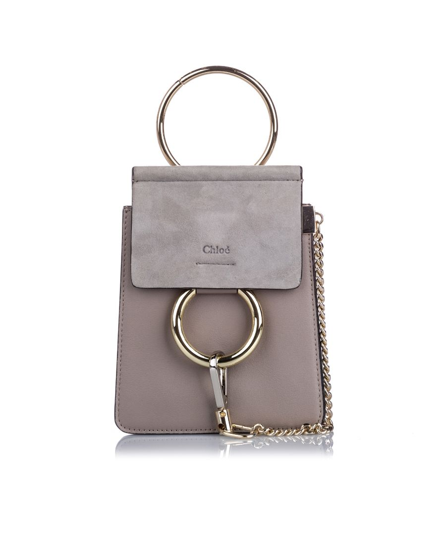 Image for Vintage Chloe Mini Faye Bracelet Crossbody Bag Gray