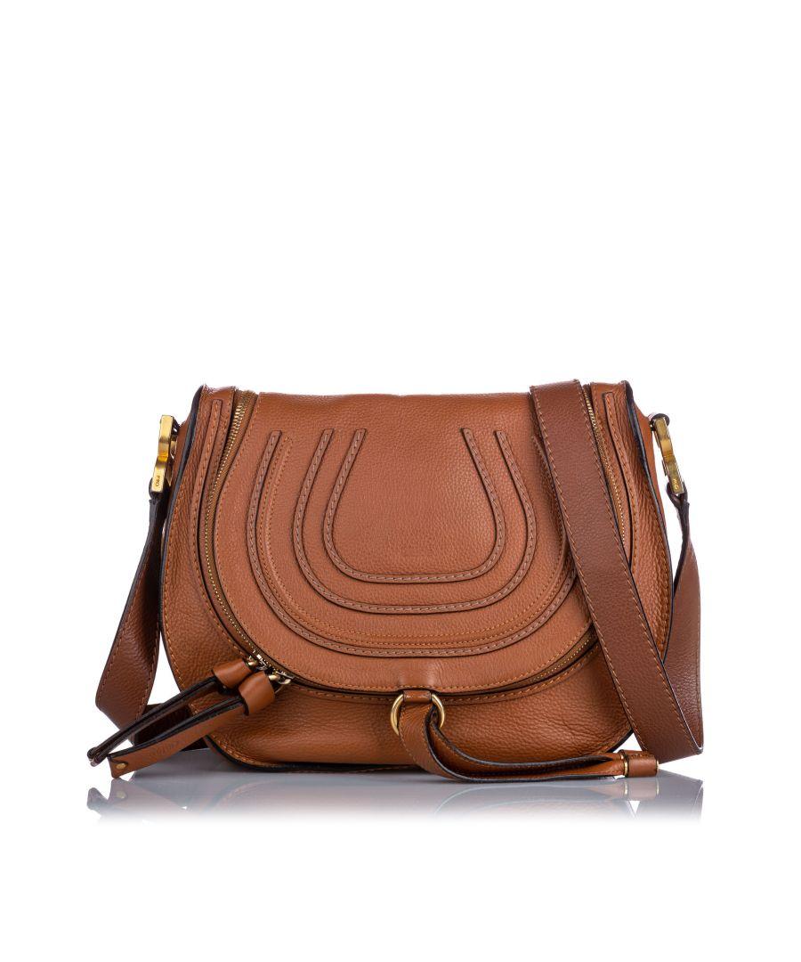 Image for Vintage Chloe Medium Marcie Crossbody Bag Brown