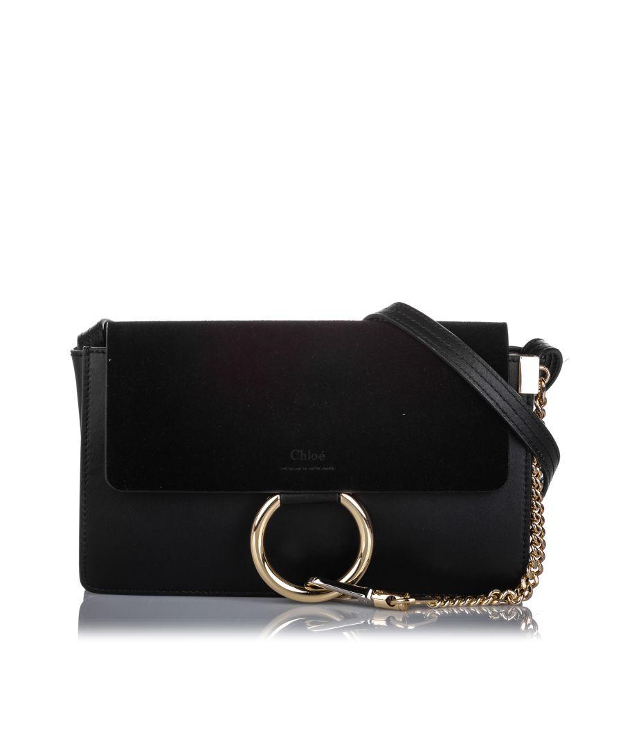 Image for Chloe Leather Faye Shoulder Bag Black