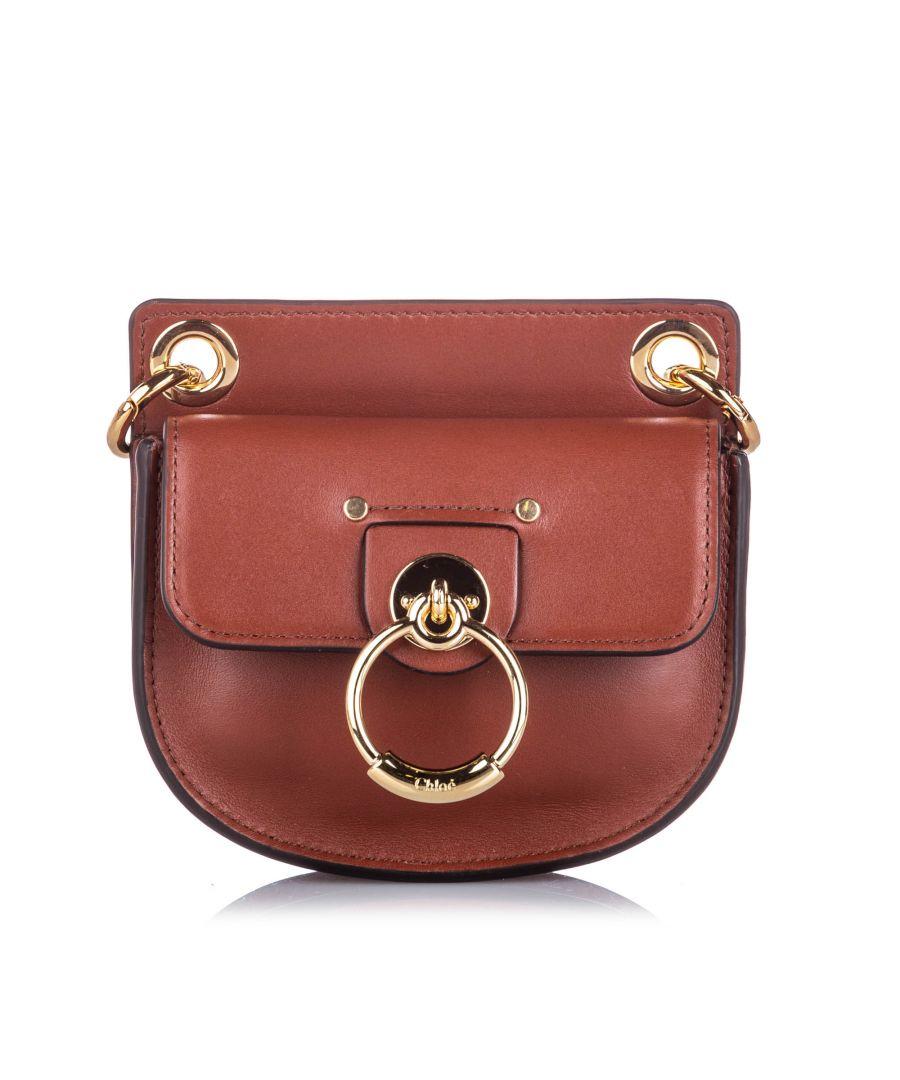 Image for Vintage Chloe Mini Tess Crossbody Bag Brown