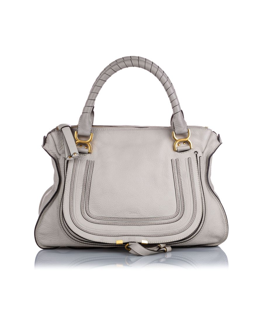 Image for Chloe Large Marcie Leather Handbag Gray