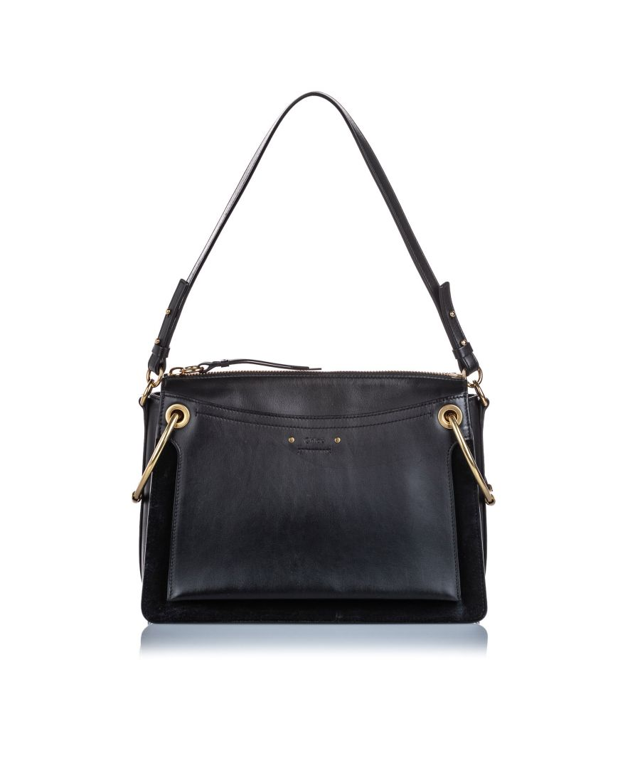 Image for Vintage Chloe Medium Leather Roy Satchel Black