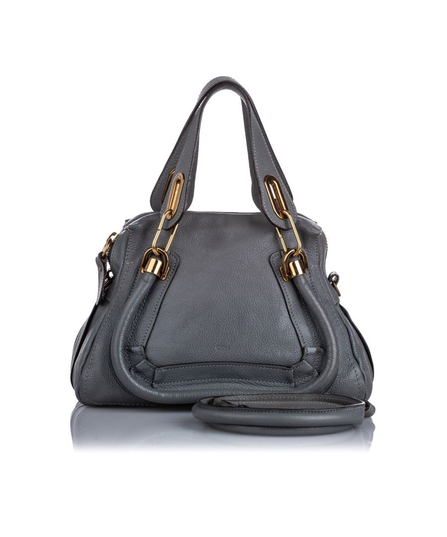 Image for Vintage Chloe Mini Paraty Satchel Gray