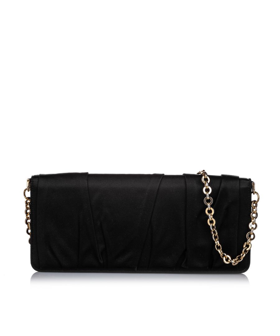 Image for Vintage Dolce&Gabbana Chain Clutch Bag Black