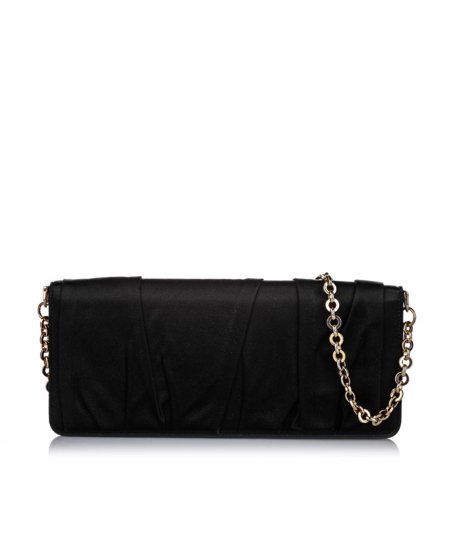 Image for Vintage Dolce&Gabbana Chain Clutch Bag Black