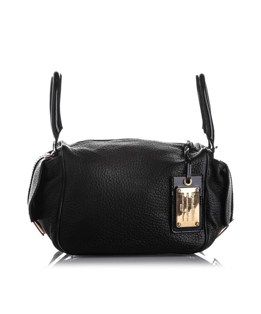 Image for Vintage Dolce&Gabbana Leather Crossbody Bag Black