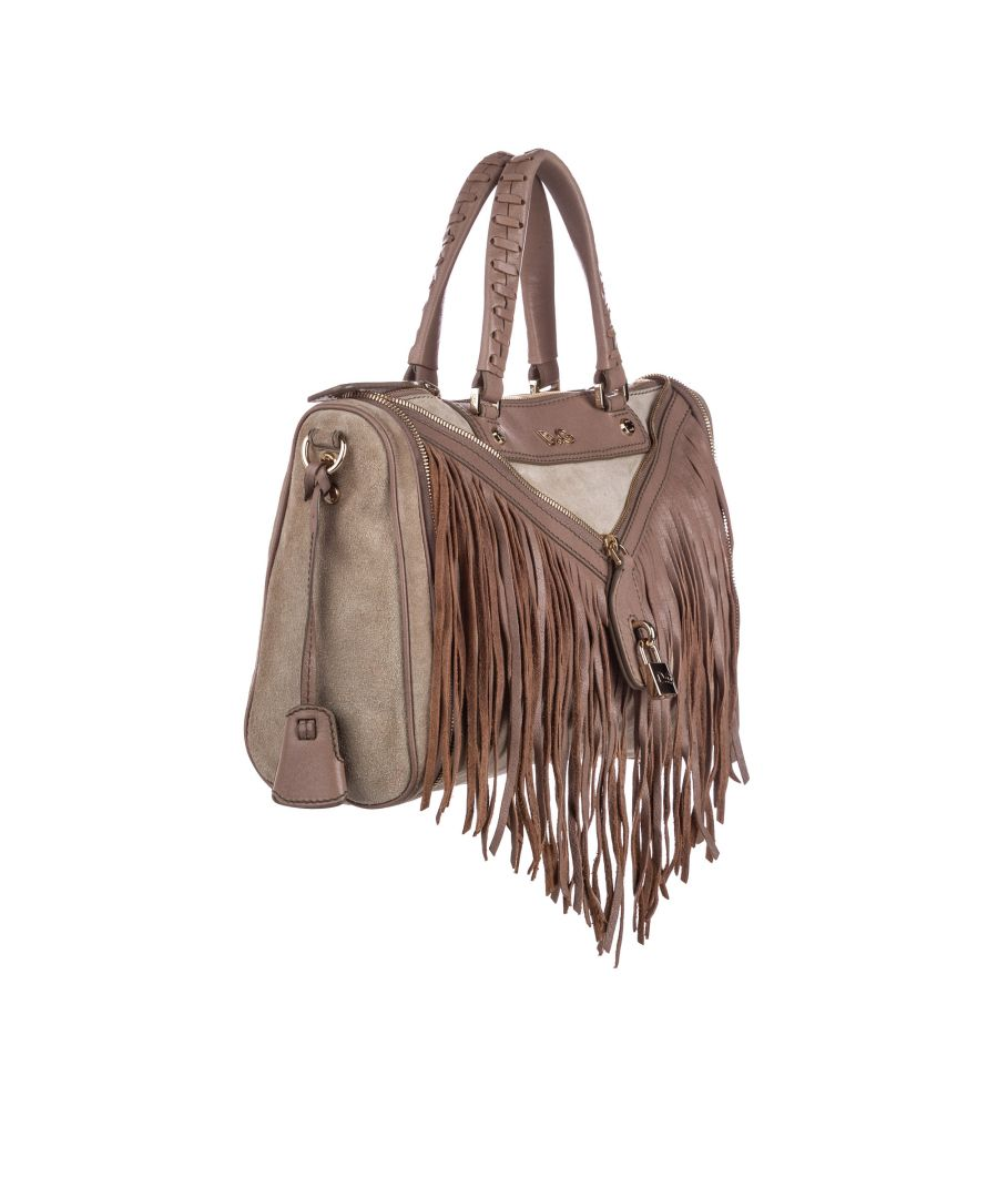 Image for Vintage Dolce&Gabbana Fringed Suede Satchel Brown