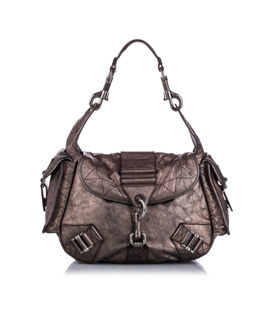 Image for Vintage Dior Leather Shoulder Bag Brown