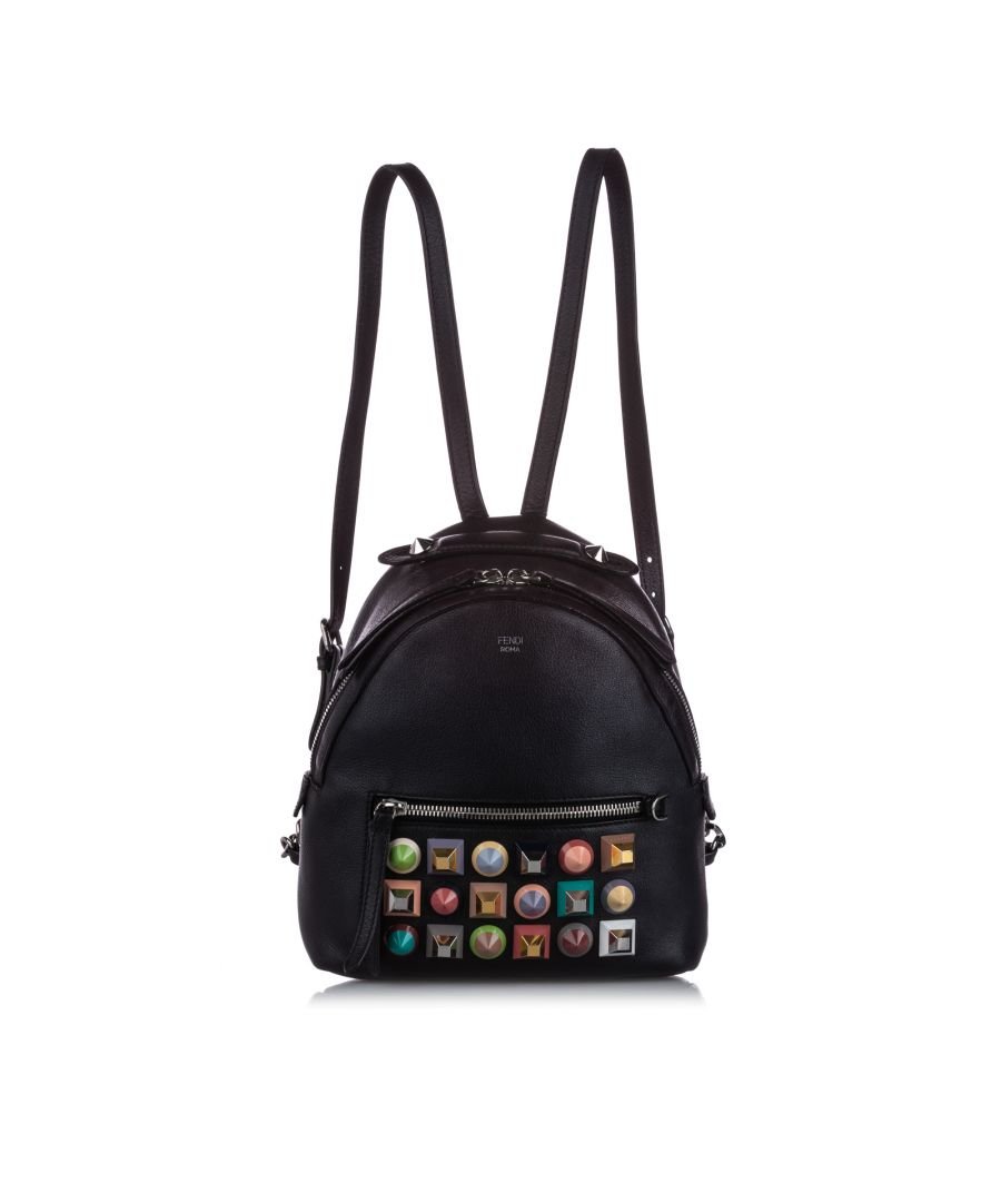 Image for Vintage Fendi Mini Studded By The Way Backpack Black