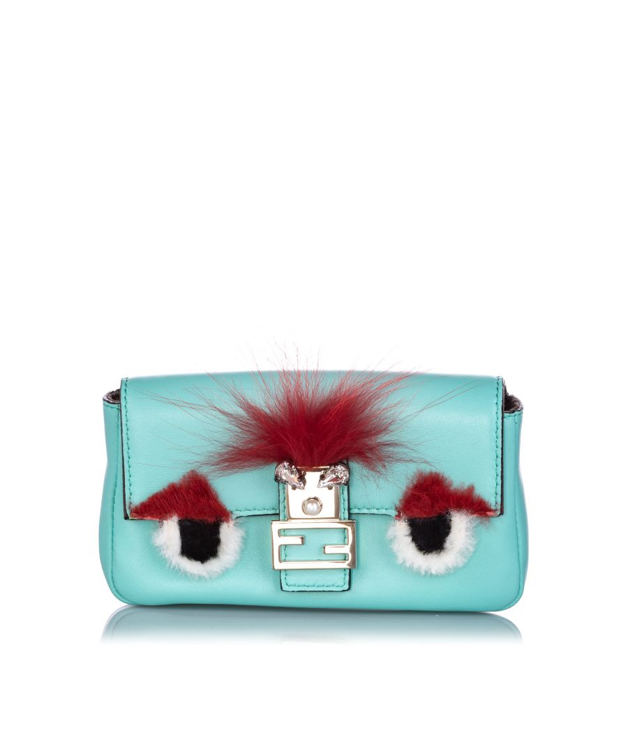 Image for Fendi Micro Monster Baguette Green