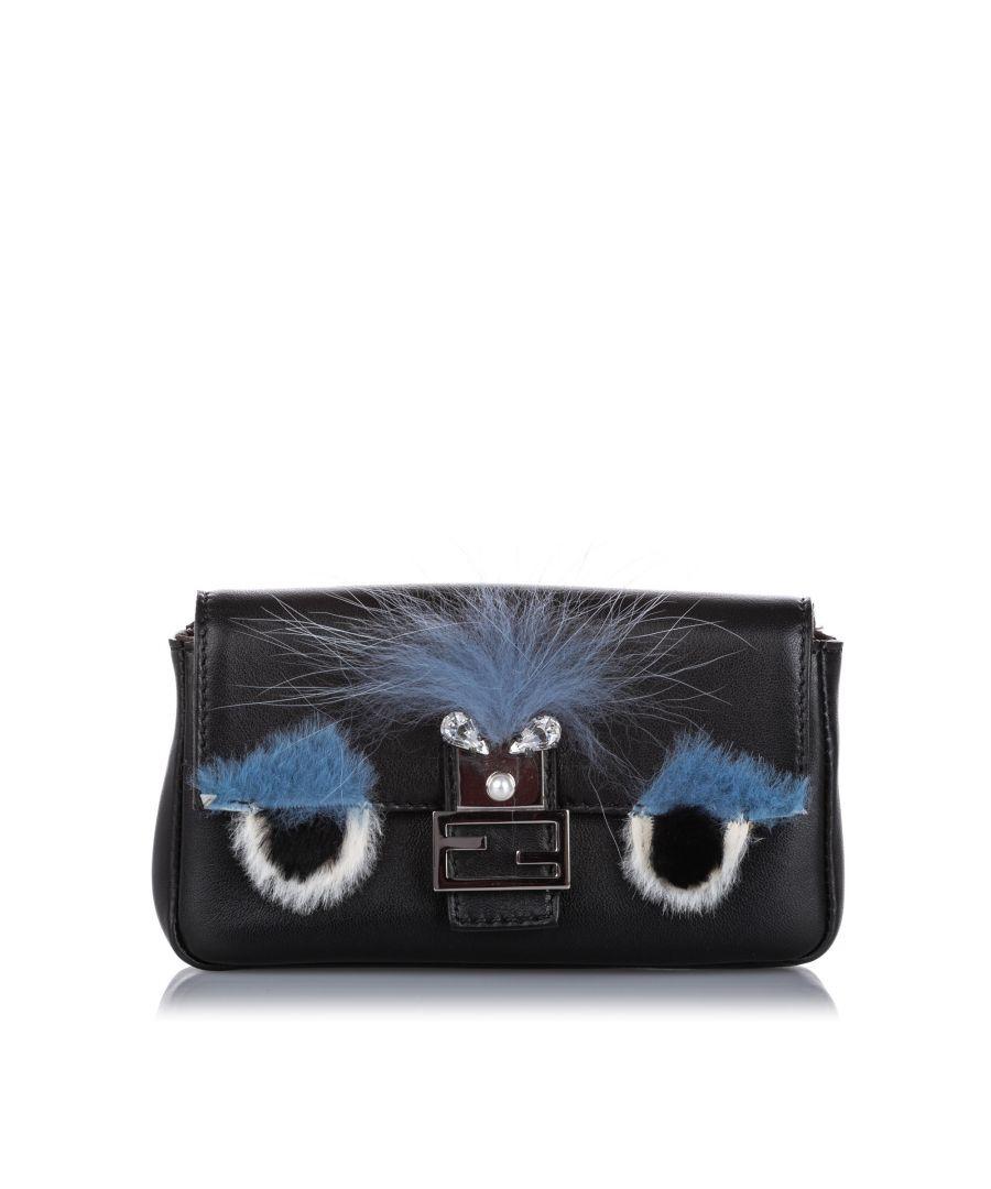 Image for Fendi Micro Monster Baguette Black