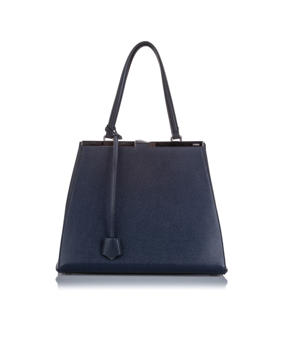 Image for Fendi Large 3Jours Tote Bag Blue