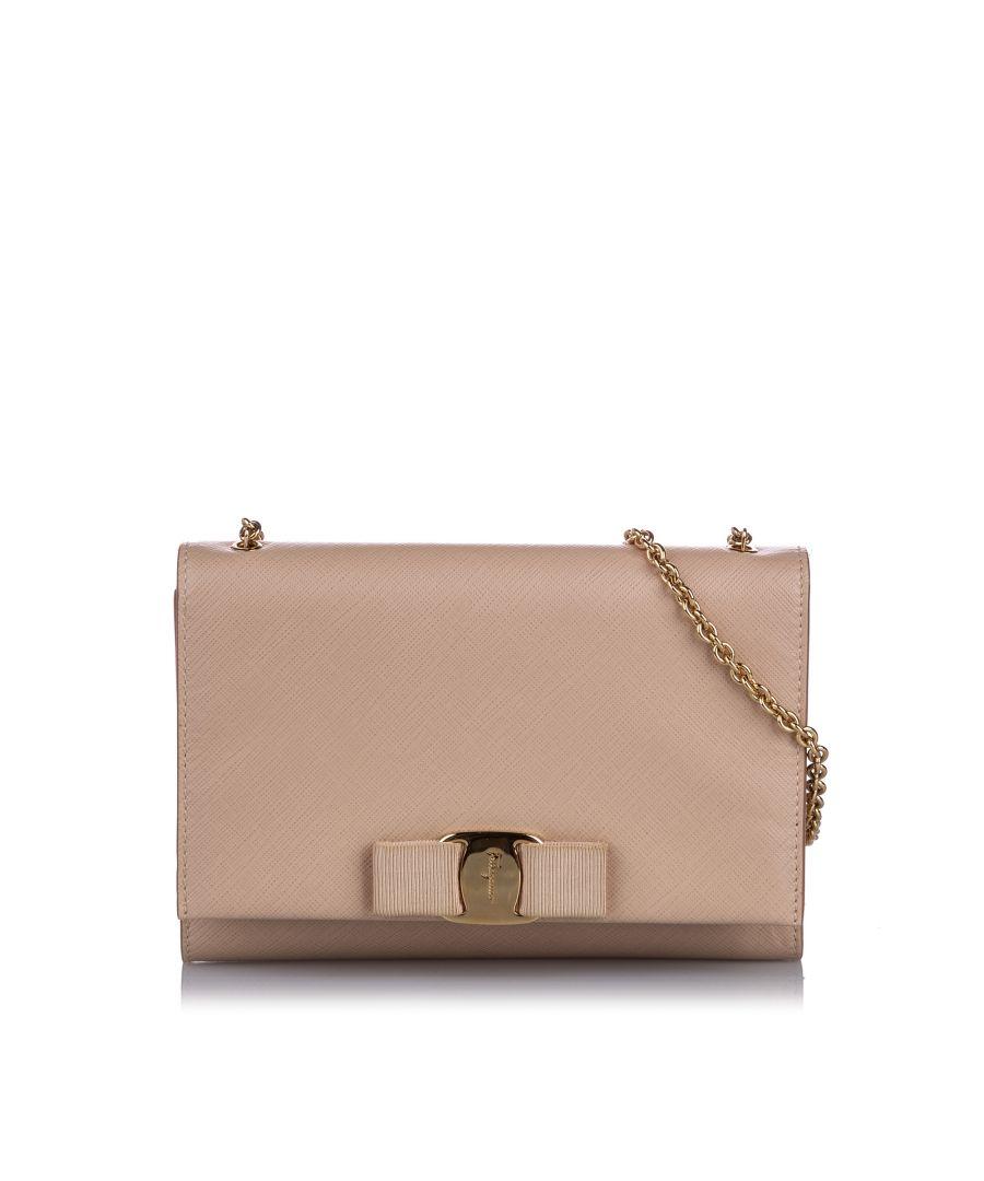 Image for Ferragamo Vara Ginny Crossbody Bag White