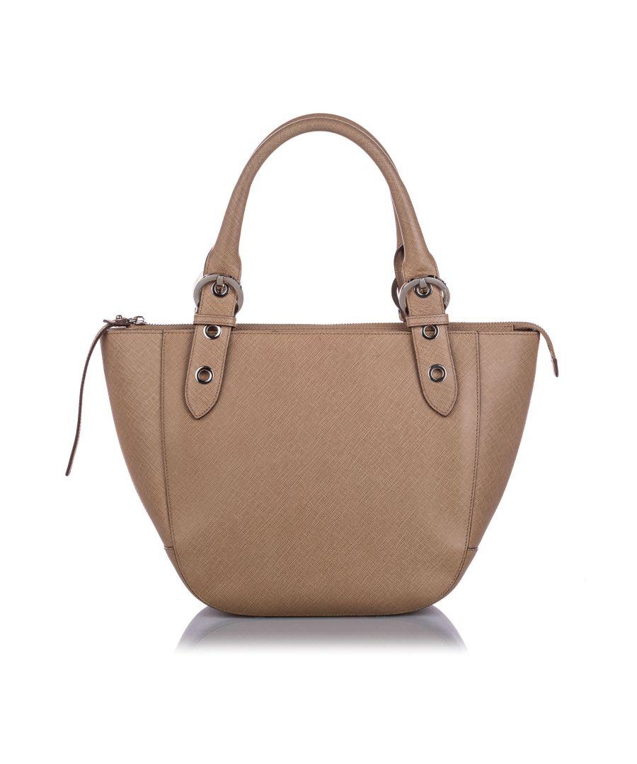 Image for Vintage Ferragamo Leather Handbag Brown