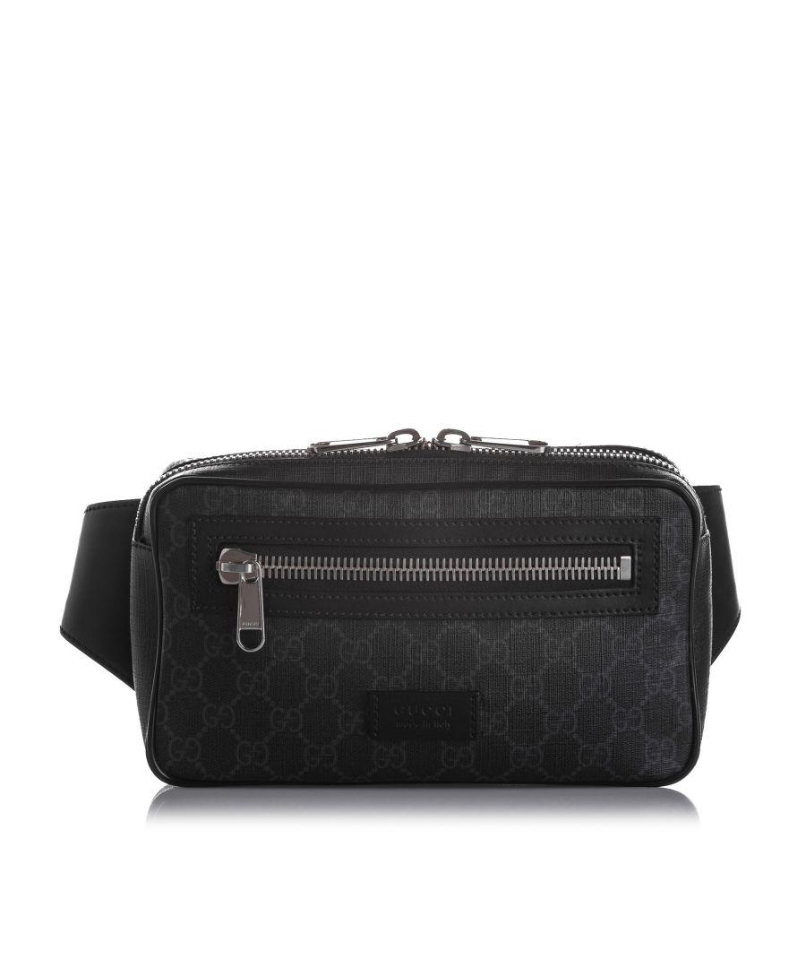 Image for Vintage Gucci GG Supreme Web Belt Bag Black