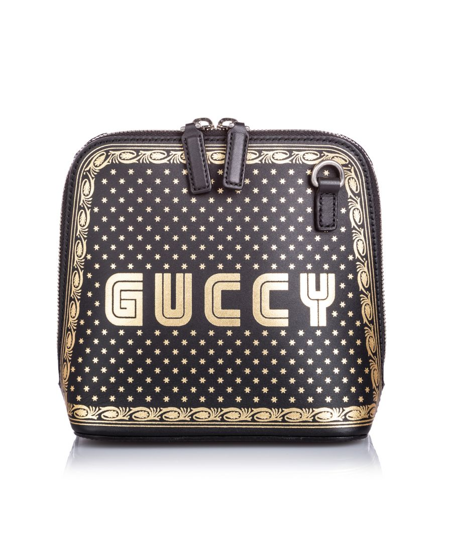 Image for Vintage Gucci Mini Guccy Crossbody Bag Black