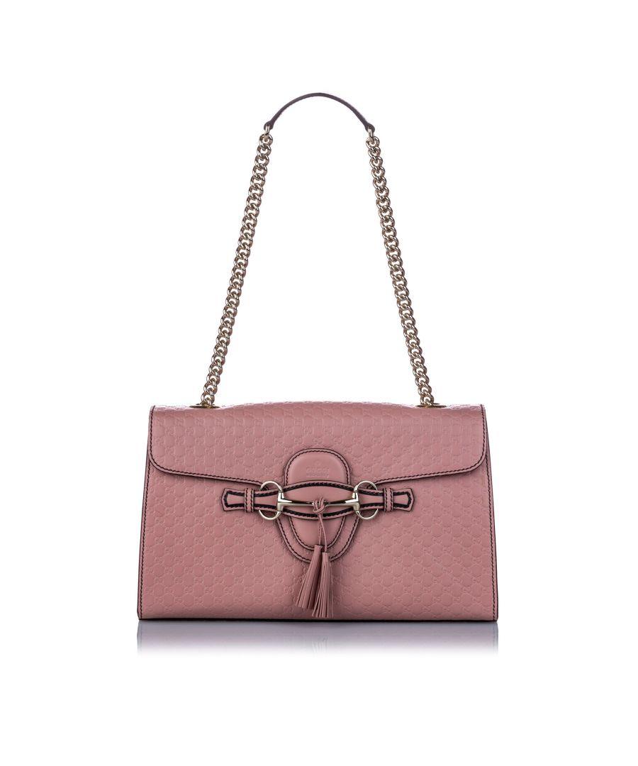 Image for Vintage Gucci Medium Microguccissima Leather Emily Shoulder Bag Pink