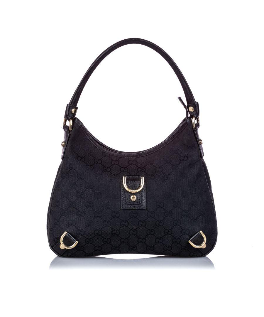 Image for Vintage Gucci GG Canvas Abbey Shoulder Bag Black