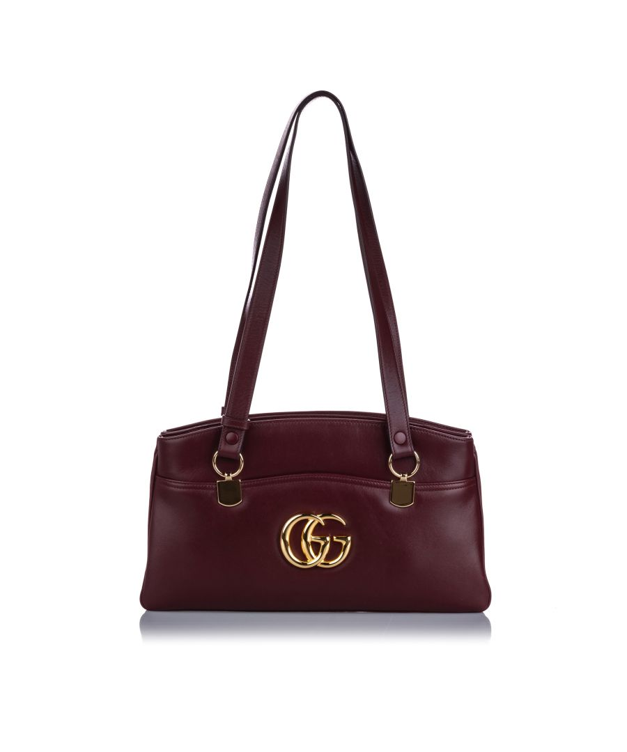 Image for Gucci Arli Leather Shoulder Bag Red
