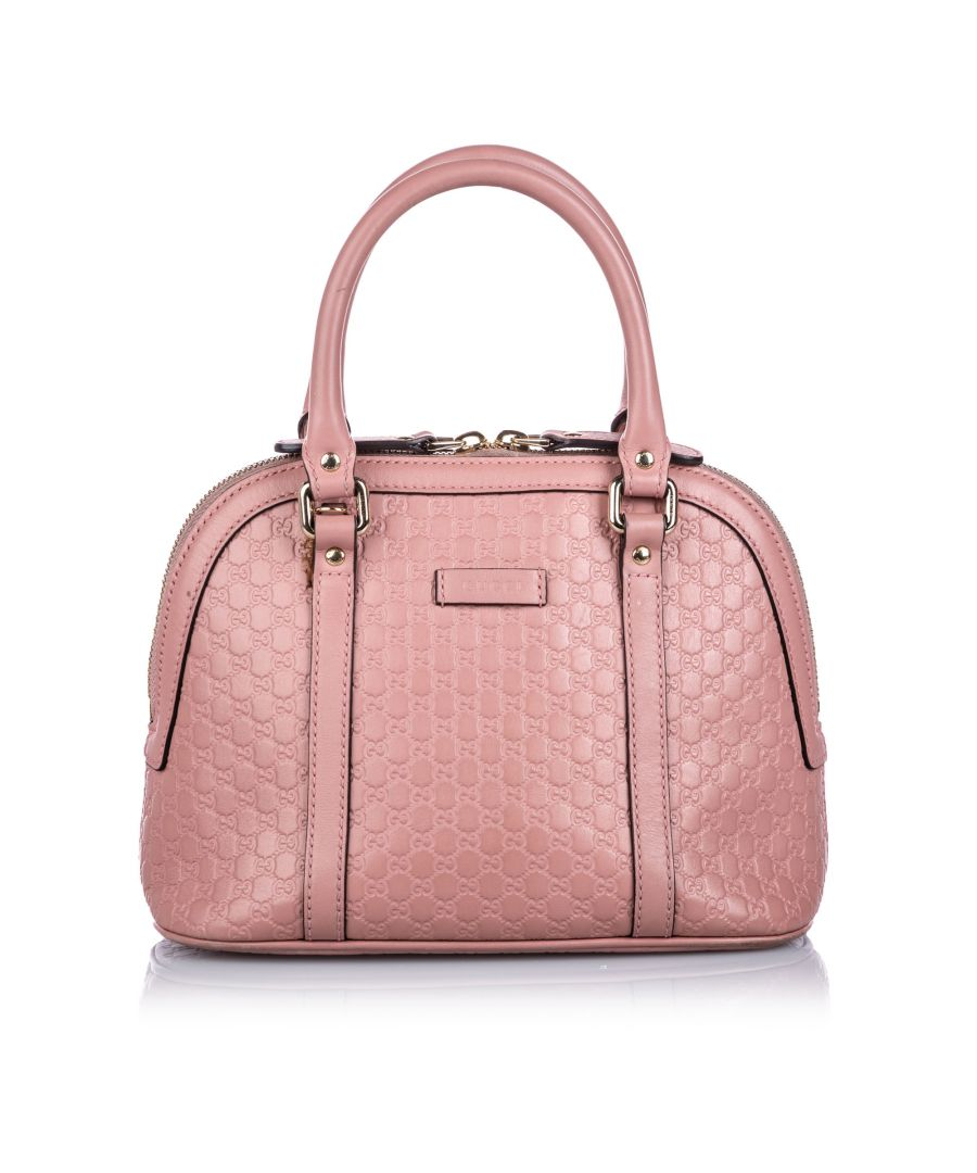 Image for Vintage Gucci Guccissima Mini Dome Satchel Pink