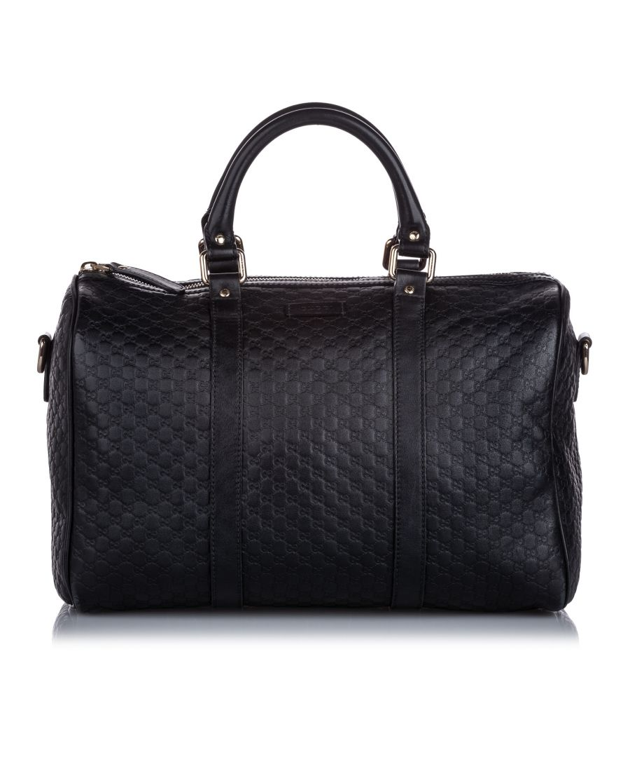 Image for Gucci Microguccissima Boston Bag Black