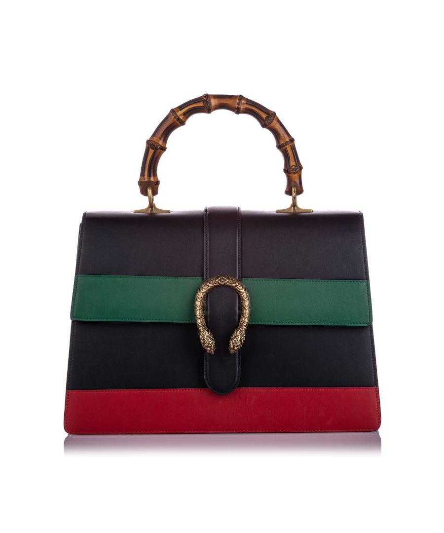 Image for Gucci Large Dionysus Bamboo Top Handle Satchel Black