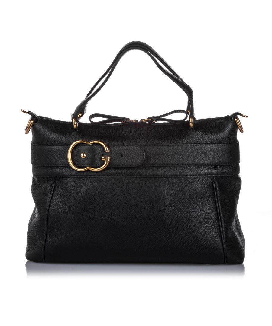 Image for Gucci Ride Leather Satchel Brown