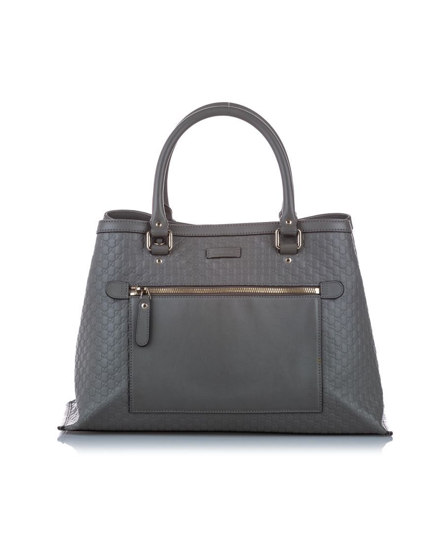 Image for Vintage Gucci Microguccissima Satchel Gray