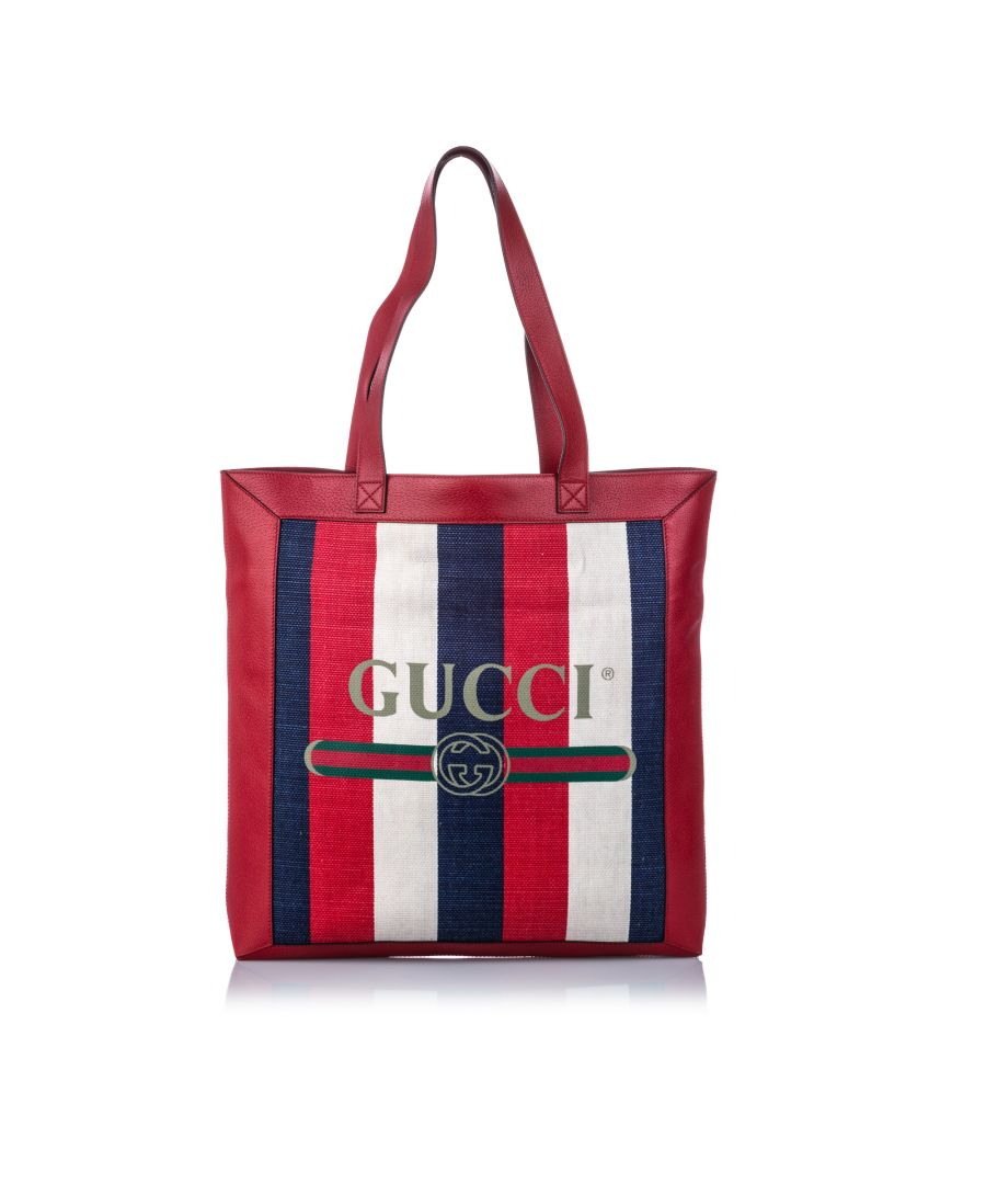 Image for Vintage Gucci Medium Sylvie Baiadera Tote Red