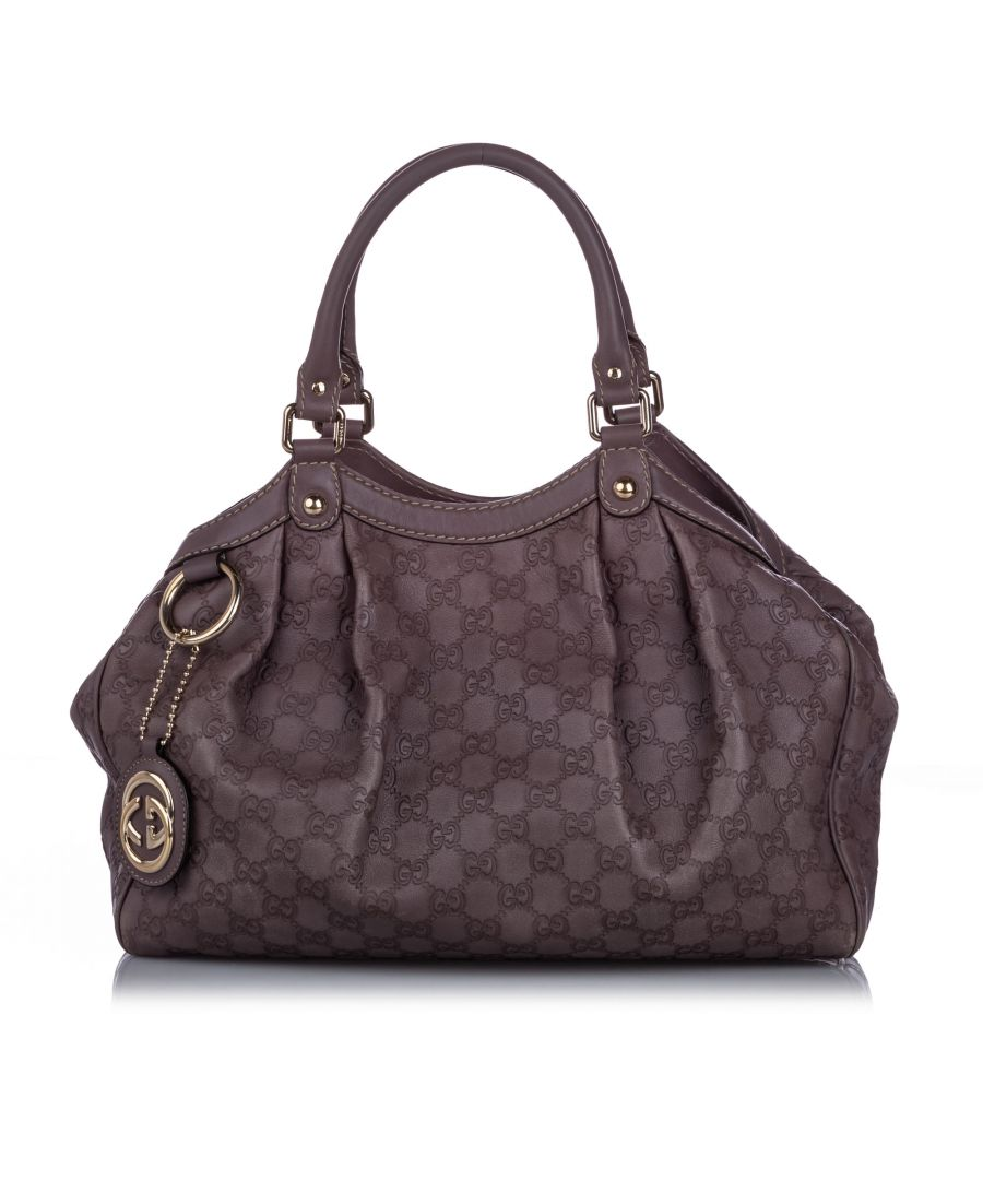 Image for Gucci Guccisima Sukey Tote Bag Brown