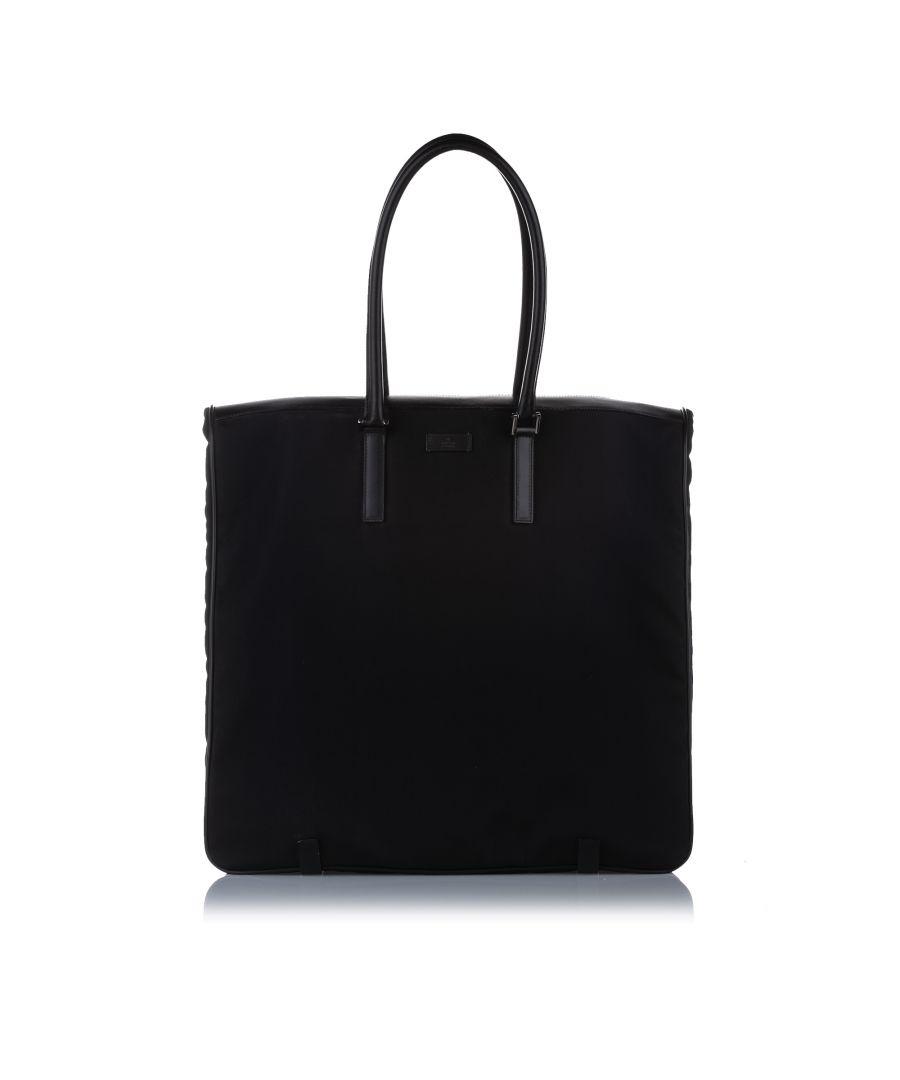 Image for Vintage Gucci Nylon Garment Bag Black