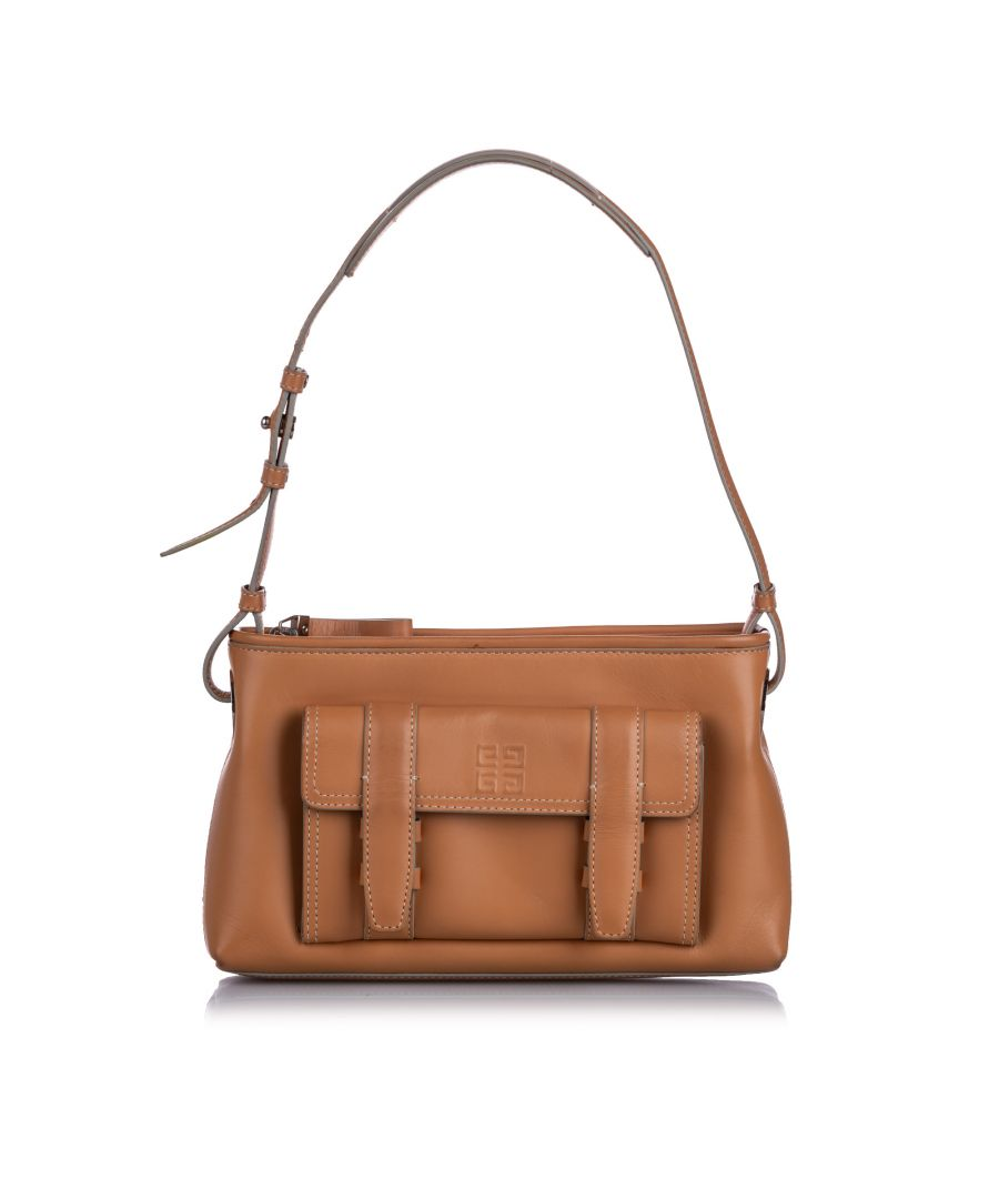 Image for Vintage Givenchy Leather Baguette Brown
