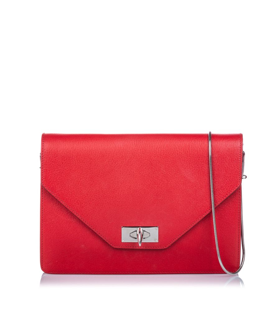 Image for Vintage Givenchy Shark Tooth Crossbody Bag Red