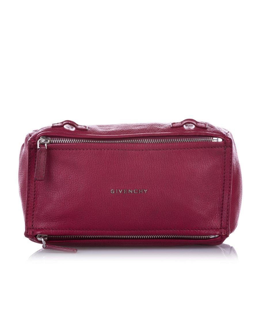 Image for Vintage Givenchy Mini Pandora Leather Crossbody Bag Pink