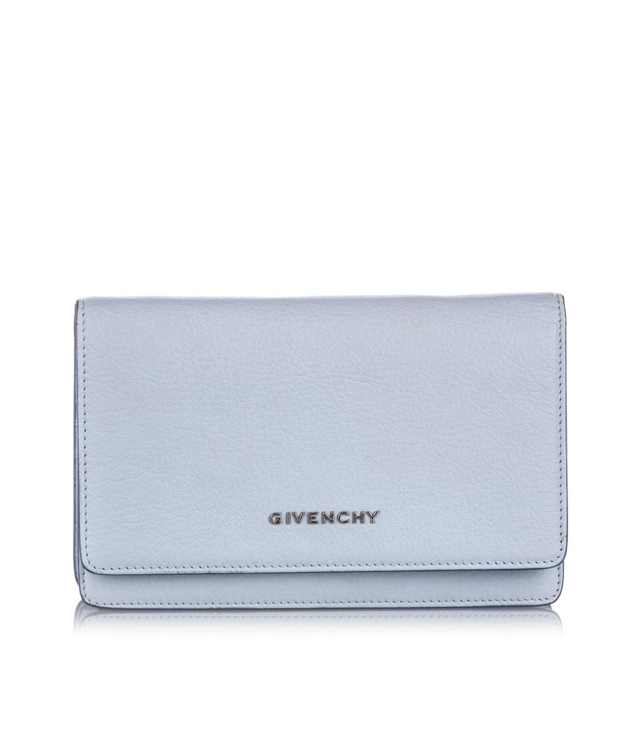Image for Vintage Givenchy Pandora Wallet on Chain Blue
