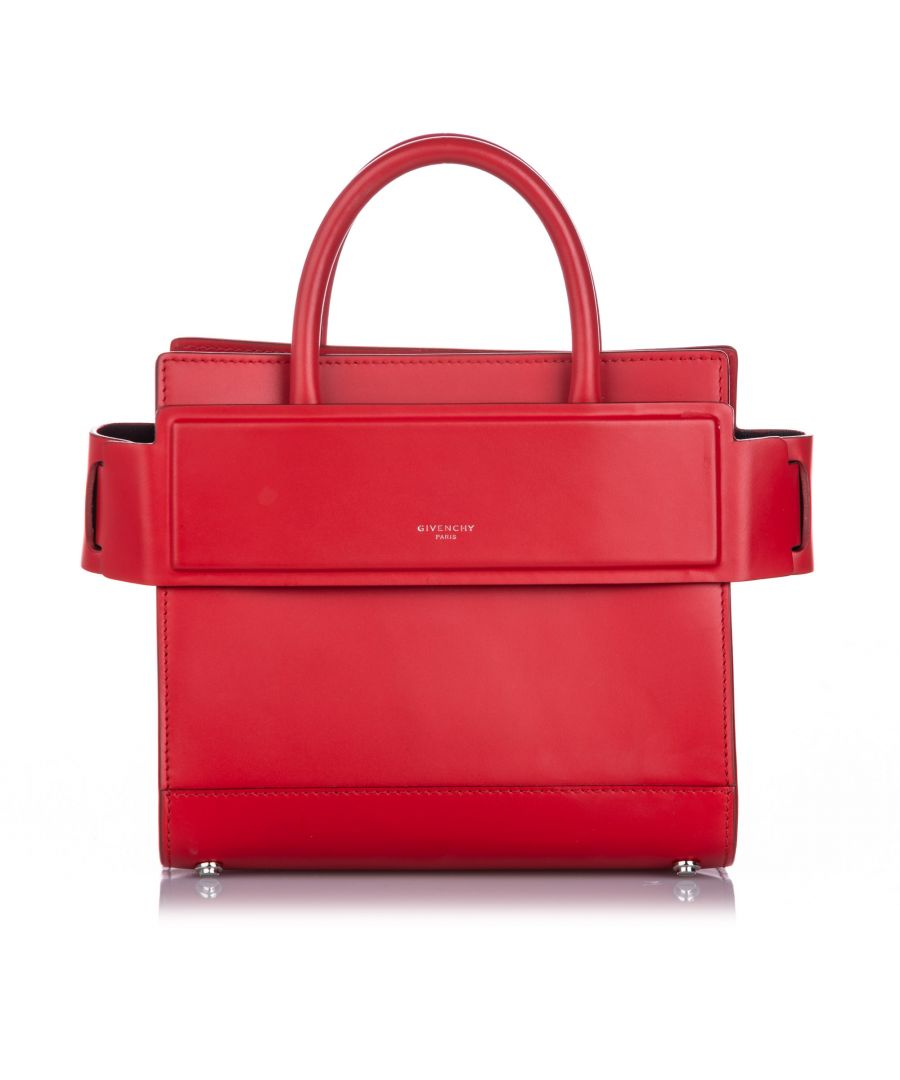 Image for Vintage Givenchy Mini Horizon Satchel Red