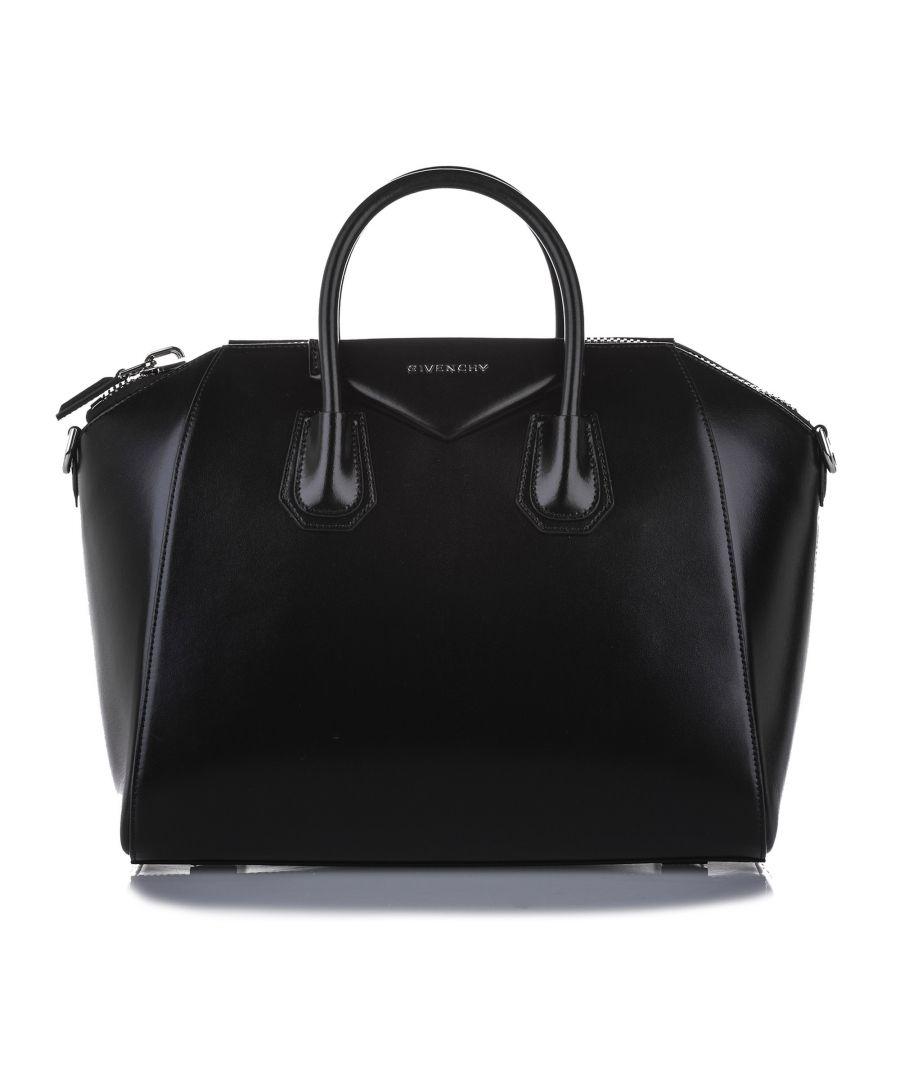 Image for Vintage Givenchy Medium Antigona Leather Satchel Black