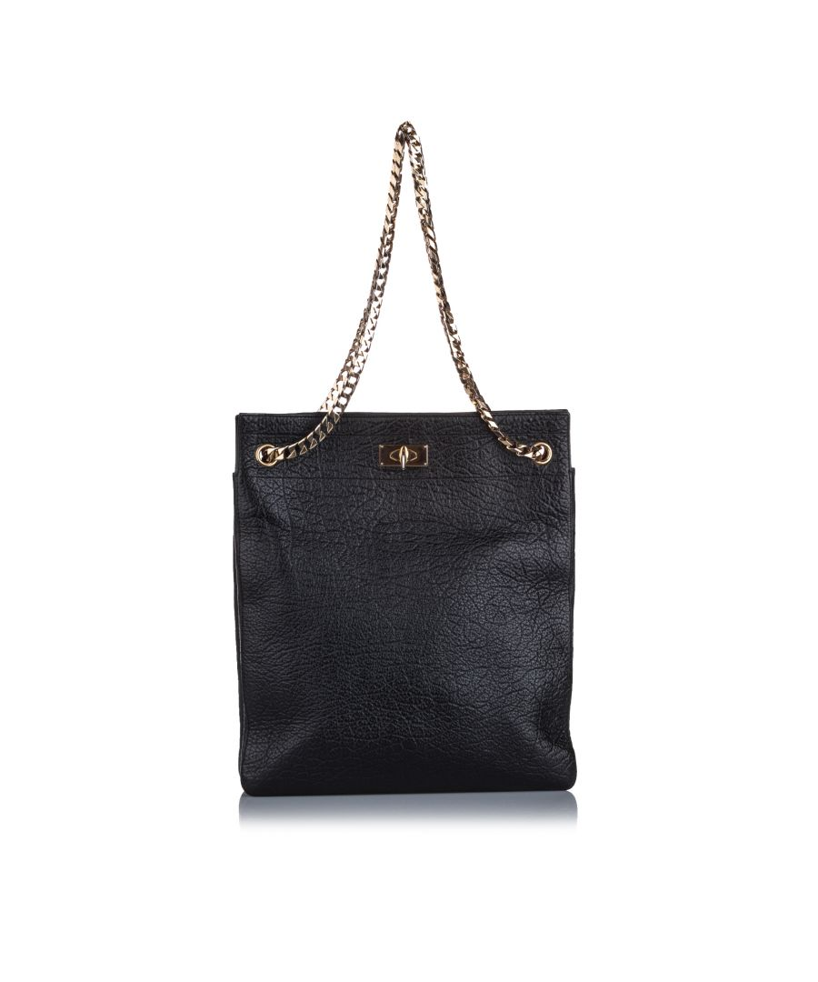 Image for Givenchy Shark Tooth Chain Tote Bag Black