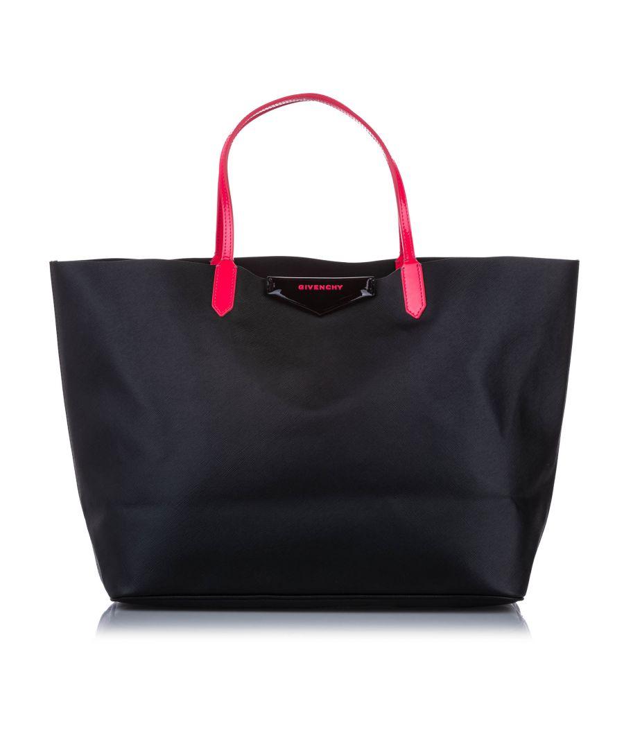 Image for Vintage Givenchy Large Leather Antigona Tote Bag Black