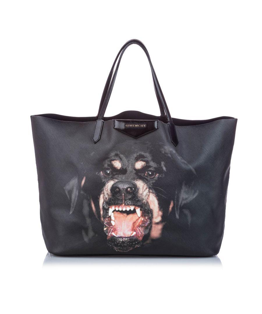 Image for Vintage Givenchy Large Antigona Rottweiler Tote Black