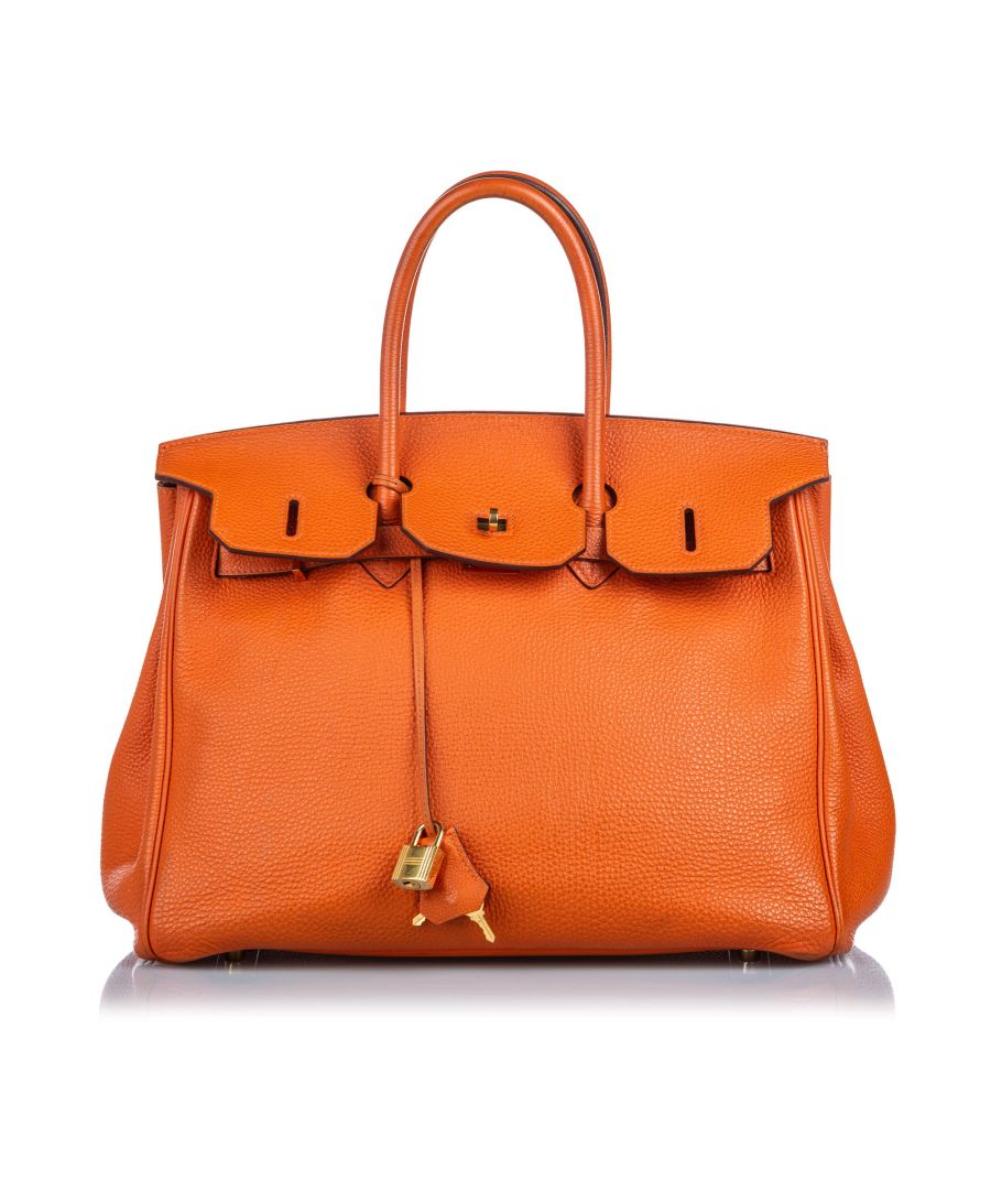 Image for Hermes Clemence Birkin 40 Orange