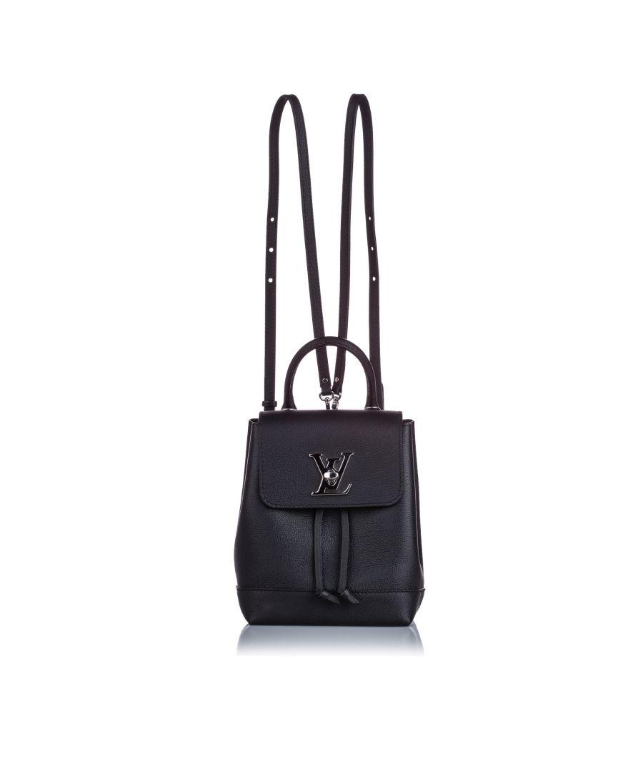 Image for Vintage Louis Vuitton Mini LockMe Backpack Black