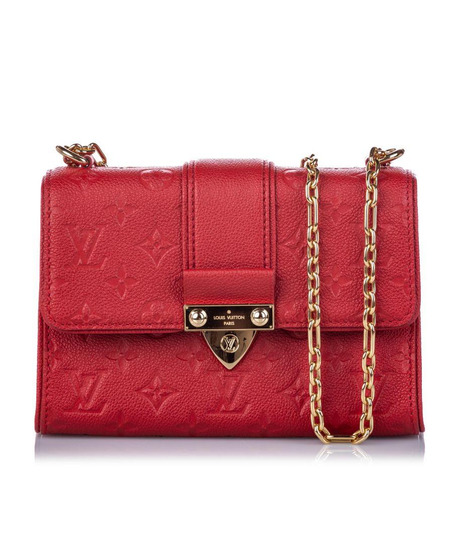 Image for Vintage Louis Vuitton Monogram Empreinte Saint Sulpice BB Red