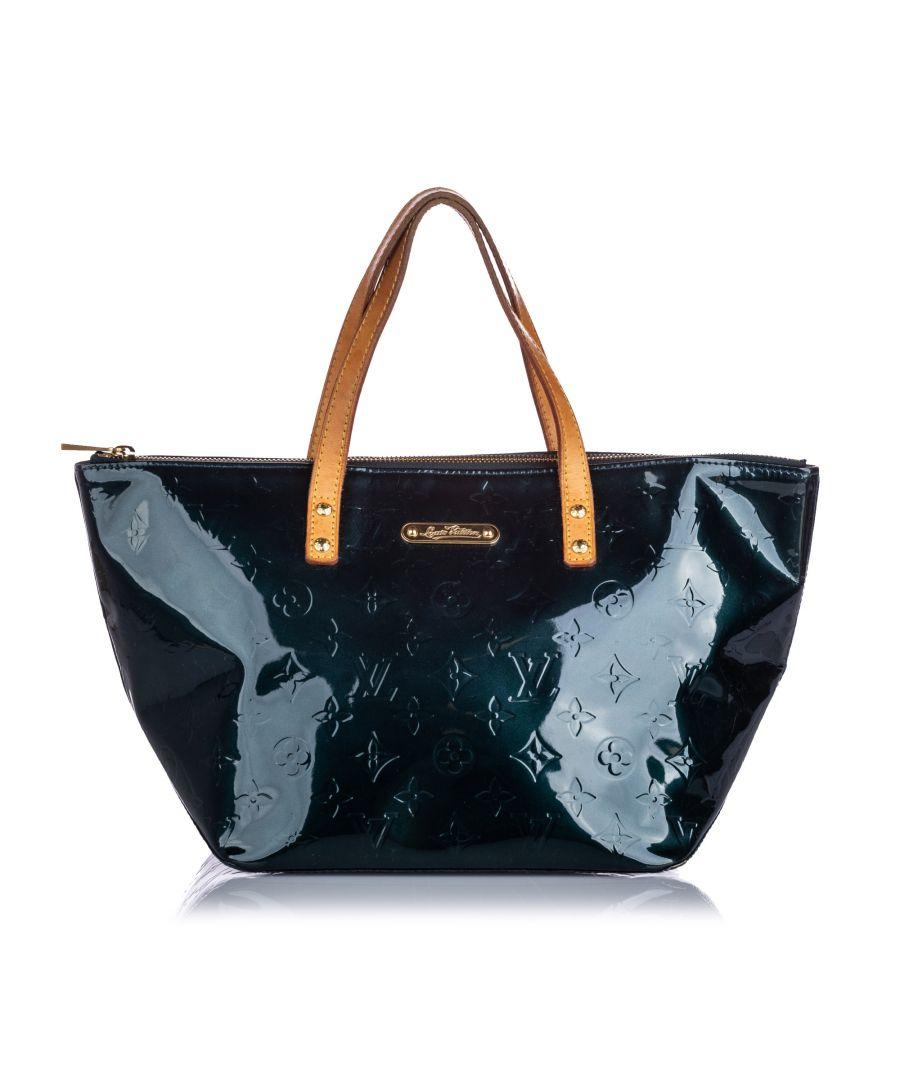 Image for Vintage Louis Vuitton Vernis Bellevue PM Green