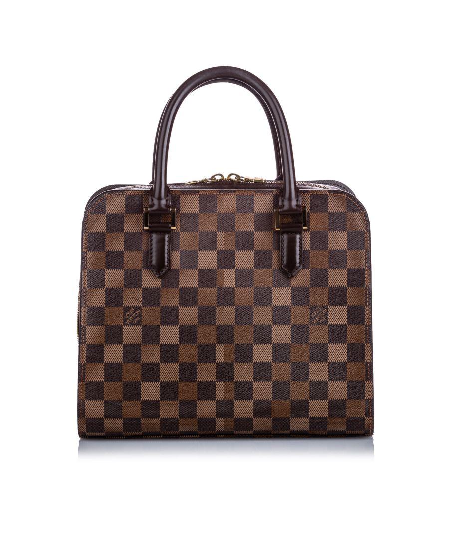Image for Vintage Louis Vuitton Damier Ebene Triana Brown
