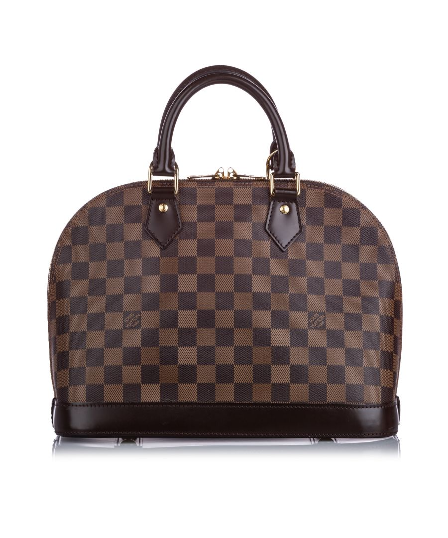 Image for Vintage Louis Vuitton Damier Ebene Alma PM Brown